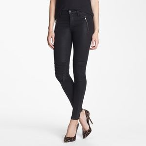 Hudson Jeans Jeans - Hudson Stark Moto Skinny Coated Jeans